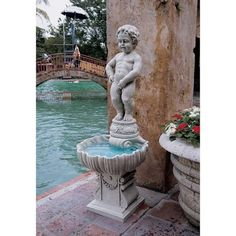 Toscano NG33505 Complete Manneken Pis Fountain with Base As Shown