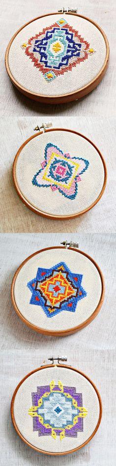 geometric cross stitch embroidery patterns