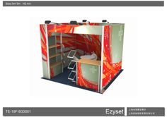 ITEM NO. TE-19F-B33001                        Frameless booth Size:10ftx10ft(3X3m)