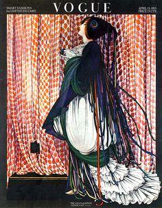 ⍌ Vintage Vogue ⍌ art and illustration for vogue magazine covers - April 1915 George Plank Vogue Vintage, Vintage Vogue Covers, Pop Art Posters, Illustrations And Posters, Poster Prints, Art Deco Illustration, Kunst Poster, Vogue Magazine Covers, Vintage Magazines