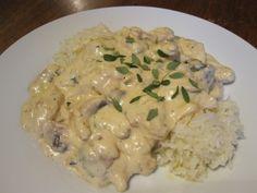 Chicken + Mushroom Stroganoff - quick and healthy recipe % acid reflux recipes in detail Chicke Recipes, Pork Recipes, Cooking Recipes, Healthy Recipes, Delicious Recipes, Low Acid Recipes, Acid Reflux Recipes, Entree Recipes, Dinner Recipes
