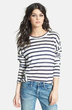 Glamorous Stripe Linen Blend Pullover available at #Nordstrom
