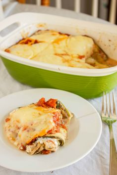 """This gluten-free """"pasta"""" dish contains no actual pasta! Eggplant and zucchini lasagna is healthy, hearty, and unique!"""