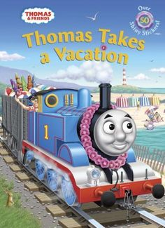 Thomas Takes a Vacation (Thomas & Friends) (Hologramatic Sticker Book) by Golden Books