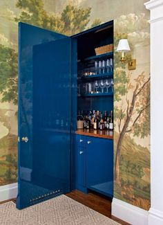 Secret BAR door. I simply must have!