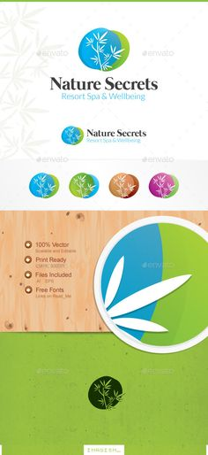 Buy Nature Secrets Logo by Imagism on GraphicRiver. About us Our logos cover a wide range of areas and purposes. From Technology to Communication or design, from Economy. Logo Design Template, Logo Templates, Logo Branding, Logo Ad, Nature Secret, From Software, Water Logo, Green Logo, Healing Herbs