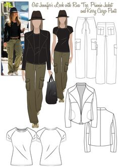 Jennifer's Casual Look - Riva Top, Prinnie Jacket, Kerry Cargo Pants