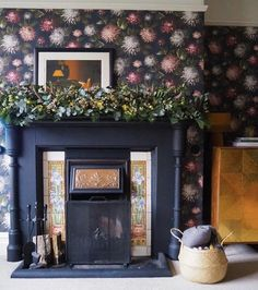 October Bloom floral wallpaper by    Woodchip & Magnolia Credit @storylines_interior_design