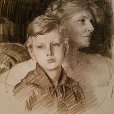 Portrait Sketches, Portrait Art, Art Sketches, Paar Illustration, Sargent Art, Charcoal Portraits, Charcoal Art, Academic Art, Drawing Artist