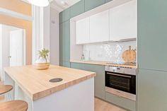 Ikea Small Kitchen, Small Open Plan Kitchens, Open Plan Kitchen Dining Living, Living Room Kitchen, Minimal Kitchen Design, Kitchen Room Design, Home Decor Kitchen, Interior Design Kitchen, Ikea Kitchen Planning