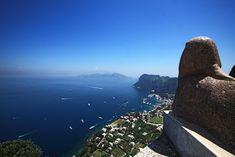 View of Capri and Marina from Villa San Michele, Anacapri
