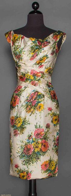 Ceil Chapman Printed Dress, 1950