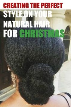 Tips and tricks to style your natural hair for this Christmas holiday season. #hairstyling #protips Long Natural Hair, Natural Hair Updo, Protective Hairstyles For Natural Hair, Natural Hairstyles, Boho Hairstyles, Black Women Hairstyles, African American Updo Hairstyles, Updo Styles, Long Hair Styles