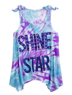 Justice Clothes for Girls Outlet | ... Dye Sharkbite Flowy Tank | Girls Tops & Tanks Clothes | Shop Justice