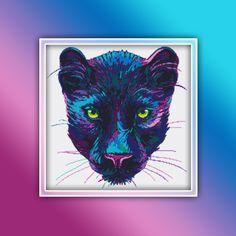 Jaguar Cross Stitch Pattern 2 Instant PDF Download - Leopard Watercolor Cross Stitch Pattern - Animal Cross Stitch Pattern Deer Crossing, Extra Fabric, Beautiful Patterns, Jaguar, Color Change, Cross Stitch Patterns, Free Images, Pdf, Symbols
