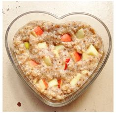 Ripped Recipes - No Sugar Added- Apple Pie Egg White Oats - Tastes just like apple pie without the added sugar!