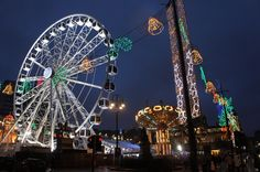George Square at Christmas, Glasgow UK