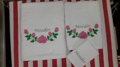 Towels with roses by stitchdelight.net