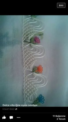 İğne oyası Embroidery Stitches, Embroidery Patterns, Knitting Patterns, Needle Lace, Needle And Thread, Bead Crochet, Crochet Lace, Crochet Edgings, Saree Tassels