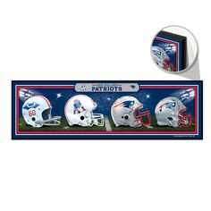 "NEW ENGLAND PATRIOTS Wood Sign 9"" x 30"" HardBoard Helmet History"