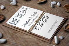 Tying The Knot Save the Date Cards Rustic Tying by PaperStudioByC