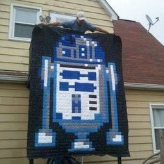 (7) Name: 'Quilting : R2D2 Star Wars quilt Pattern