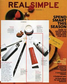 Real Simple magazine features Dermelect Cosmeceuticals Smooth Upper Lip & Perioral Anti-Aging Treatment (dermelect.com) The peptides and retinol in this product help minimize creases and help the look of discoloration.