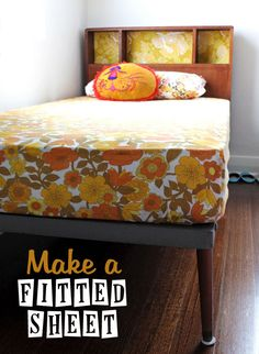 How to make a fitted sheet from a flat sheet, full instructions with pictures.