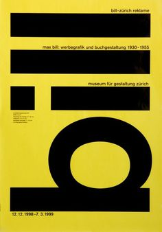 Robert & Durrer, graphic design, poster, typography, yellow