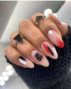Stylish Nail Designs for Summer Homecoming Nails, Prom Nails, Long Nails, Colour Tip Nails, Nail Colors, Different Color Nails, Glitter Manicure, Formal Nails, Bridal Nails