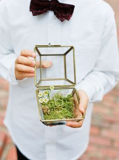 Vintage glass ring box: http://www.stylemepretty.com/2016/04/11/wedding-with-earthy-floral-greenery/ | Photography: Loft Photography - http://www.loftphotography.com/
