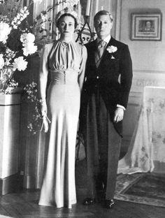 La robe bleue pâle de Wallis Simpson mariage