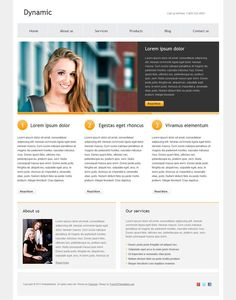 48 best free business html templates images on pinterest html dynamic is a free simple and clean html website template suitable for many types wajeb Images