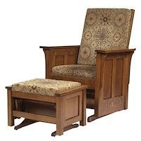 Made to Order Handcrafted Furniture with Your Choice of Hardwoods and Over 50 Finishes - Shaker: Glider - Buckeye Amish Furniture Glider Chair, Amish Furniture, Gliders, Wood Species, Hardwood, Armchair, Catalog, Upholstery, Home Decor