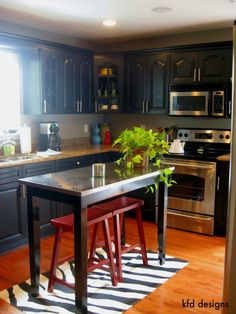 Love the black cabinets!