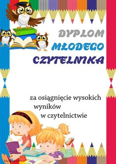 Dyplomy młodego czytelnika (pionowe) School Frame, Kids Education, Crafts For Kids, Math, Children, Activities For Kids, Invitations, Cover Pages, Early Education