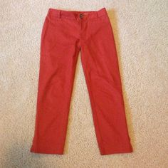Really great Anthropologie pants These are amazing. Cropped Anthropologie rare pants. Burnt orange color. Anthropologie Pants Ankle & Cropped