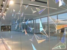 Flight Wave - Arlon and Mary Jo Bayliss, Indianapolis International Airport. Symbolic Representation, Laminated Glass, Studio Organization, International Airport, Public Art, Wind Turbine, Glass Art, How To Memorize Things