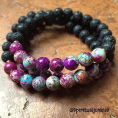 Lava Bracelet, Gemstone Bracelets, Handmade Bracelets, Jewelry Bracelets, Jewelery, Handmade Jewelry, Diy Jewelry, Handmade Wire, Silver Bracelets