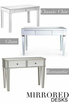 wood desk mirror wall mirrored floors mimosa lucite front office pin oval white ikea desks brick lane