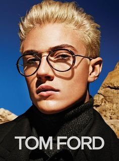 Tom Ford F/W 15 (Tom Ford) [] In this picture: Lucky Blue Smith ; Credits for this picture: Tom Ford (Designer) , Mario Sorrenti (Photographer) Lucky Blue Smith, Tom Ford Designer, Tom Ford Glasses, Mens Glasses, Marc Schulze, Matthew Clavane, Yves Saint Laurent, Tres Belle Photo, Tom Ford Eyewear