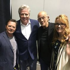 Back (together) to the future: Original stars of Back To The Future Michael J Fox, Lea Thompson, Christopher Lloyd and Thomas Wilson have reunited 33 years on from the release of the first film in the popular sci-fi franchise Best Funny Pictures, Funny Photos, Awsome Pictures, Michael J Fox, Bttf, Actrices Hollywood, Back To The Future, Best Memes, Cool Stuff