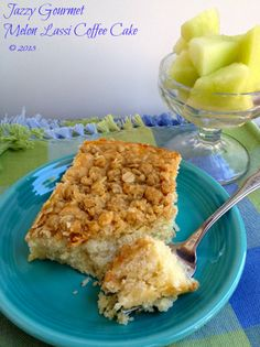 Melon Lassi Coffee Cake == Jazzy Gourmet blog (try making with BRM 1-to-1 or gfJules)