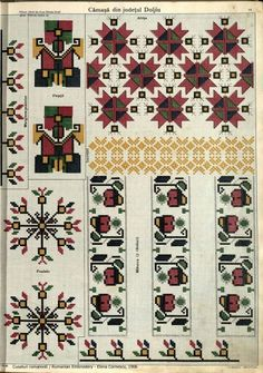 Popular Folk Embroidery Nunta in ceruri Folk Embroidery, Embroidery Stitches, Embroidery Patterns, Cross Stitch Patterns, Machine Embroidery, Embroidery For Beginners, Embroidery Techniques, Palestinian Embroidery, Antique Quilts