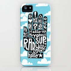 HIGH+FIVE+ALIVE+iPhone+&+iPod+Case+by+Matthew+Taylor+Wilson+-+$35.00