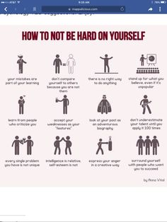How to not be hard on your self