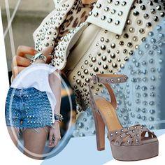 Sandália de tachas!! Linda!  #arezzo