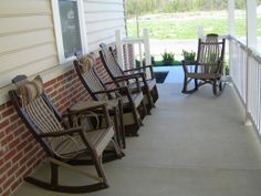 Porch Furniture   Composite Wood Rockers   From The Bristol Amish Market !  SSSOOOO Comfy!
