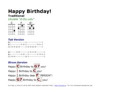 Happy Birthday (Traditional) - http://myuke.ca