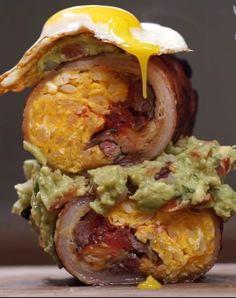 Bacon Wrapped Breakfast Burrito